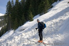 Crossing an old avalanche