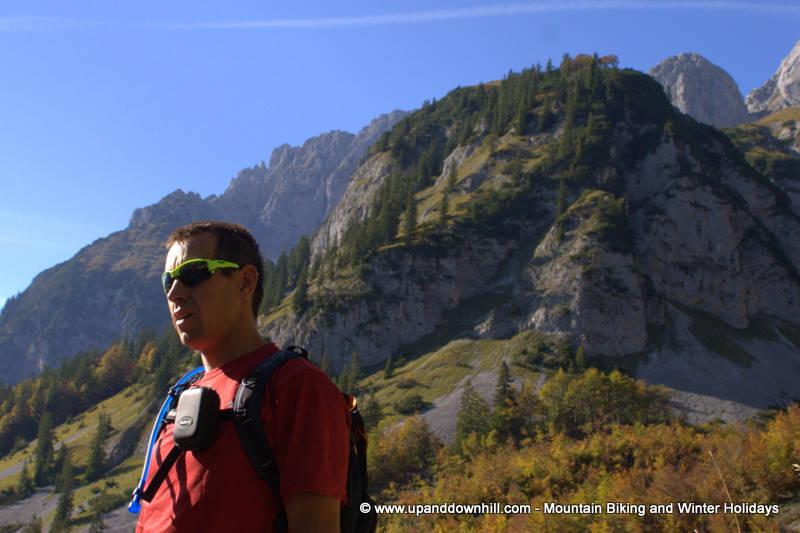 Wilder Kaiser Austrian Alps mountain biker on holiday