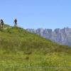 A typical Alpine mountain biking scene