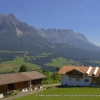 Farms over looking the Wilder Kaiser
