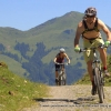 Finishing a climb on the mountain bikers in Westendorf